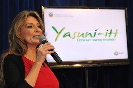 Ivonne Baki es la responsable del proyecto llamado  Yasuní-ITT.