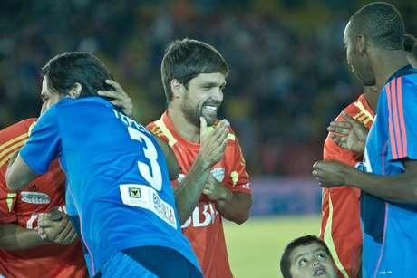 Messi, Falcao y las estrellas del fútbol mundial le cumplieron a Bogotá, con un partido espectacular.