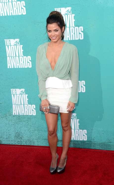 Jenna Dewan, es un ejemplo de que el color menta es muy elegante.
