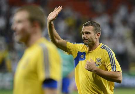Ukraine's Andriy Shevchenko says goodbye to soccer