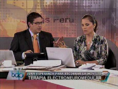 Jaime Chincha y Claudia Cisneros en BDP.