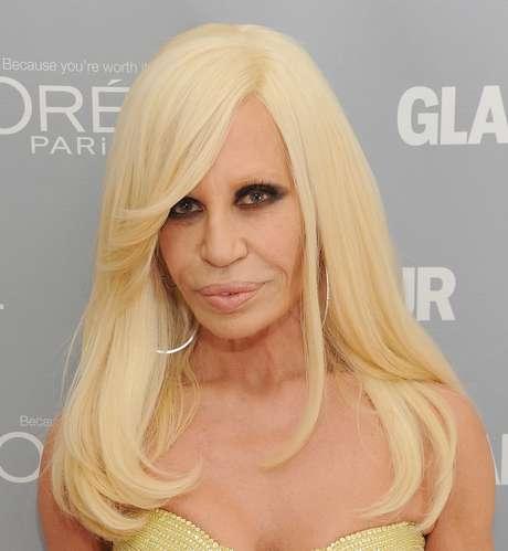 Donatella Versace fez graça ao contar um dos seus segredos de beleza