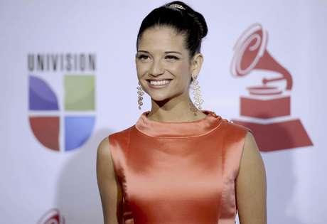 Natalia Jiménez llega a la 12a entrega anual de los Latin Grammy en Las Vegas el 10 de noviembre del 2011. La cantante española, ex vocalista de La Quinta Estación, trabaja actualmente en su segundo álbum como solista.