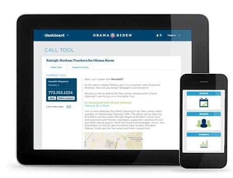 La portada de Dashboard, la red social para voluntarios demócratas.