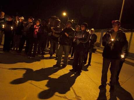 Enfrentamientos entre la policía y los manifestantes en Cajamarca.