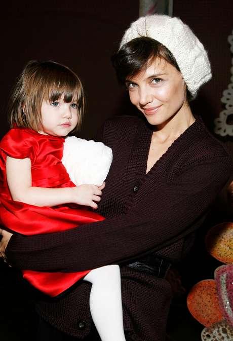Katie Holmes y su pequeña hija Suri.