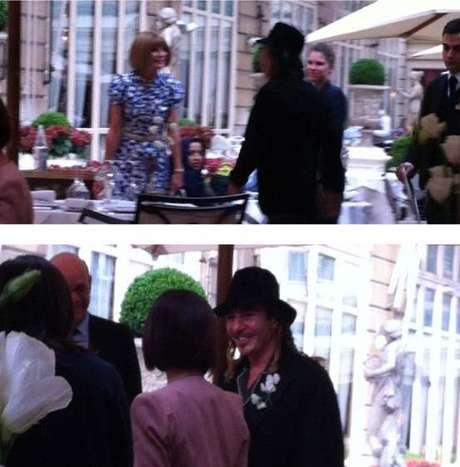 Galliano e Wintour em suposto jantar em Paris