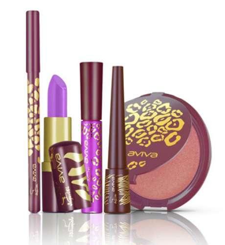 A linha de maquiagens é composta por batons, sombras, lápis, gloss e blush iluminador.
