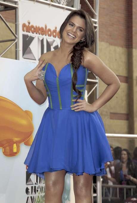 """Isabella Castillo llega a los Kids' Choice Awards en Los Angeles en una fotografía del 31 de marzo de 2012. Castillo fue nominada el viernes 6 de julio de 2012  como mejor actriz en los Kids' Choice Awards México  por su papel estelar en la serie juvenil """"Grachi"""", nominada como mejor programa."""