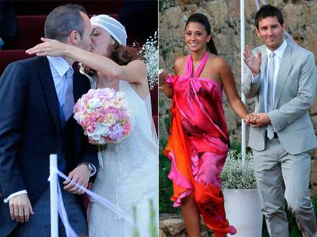 The wedding between the soccer player Andres Iniesta and Anna Ortiz became the wedding of the year not only because of the world class celebrities that attended but because of the novelties it gave the sport's fans.