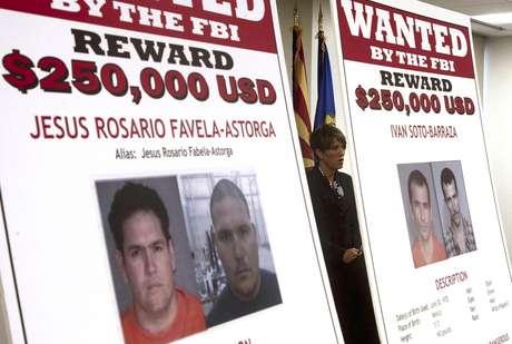 Laura E. Duffy, fiscal federal del distrito sur de California, al divulgar las identidades de cuatro hombres acusados de participar en la muerte de un agente de la Patrulla Fronteriza hace 18 meses, el lunes 9 de julio de 2012.