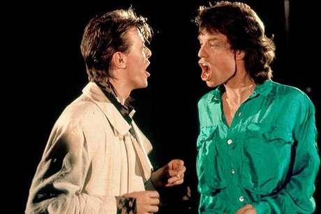 David Bowie y Mick Jagger.