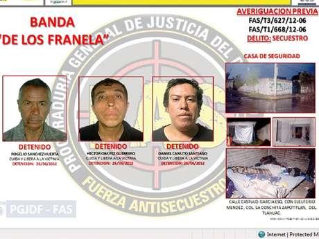"""Banda de secuestradores """"Los Franela"""""""
