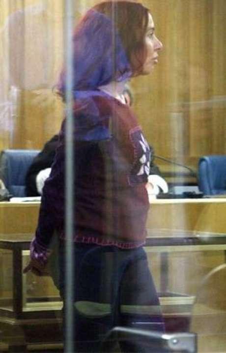 Inés del Río durante su juicio