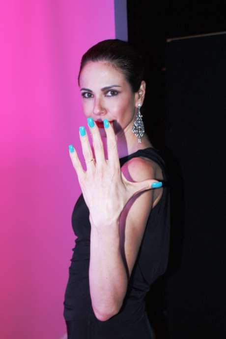 A cor turquesa, preferida da apresentadora, recebeu o nome de Nova York, local número um segundo ela