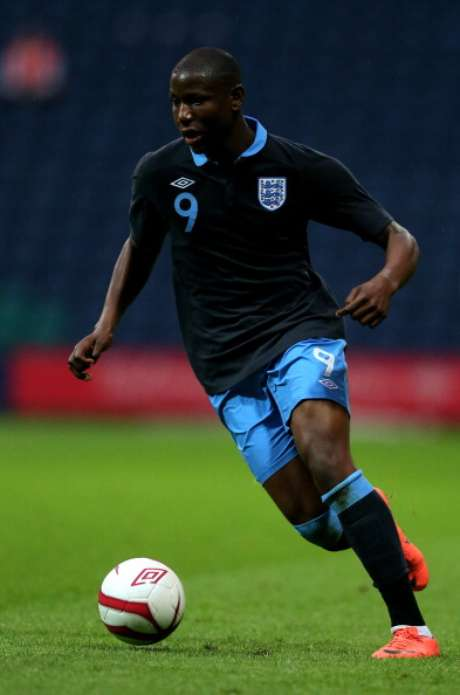 Benik Afobe of England in action during the UEFA European U19 Championship Elite Qualifying Round match between England and Switzerland at Deepdale on May 30, 2012 in Preston, England.