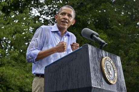 Obama durante su discurso de este sábado en Virginia.