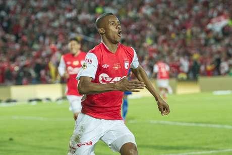 Jonathan Copete brilló en la final de la Liga Postobón I-2012 contra Deportivo Pasto al marcar el gol del título.