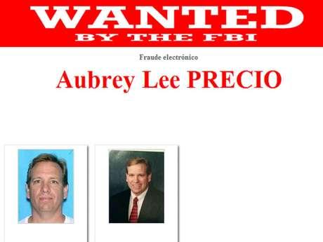Aubrey Lee Price, ex director de un banco al sur de Georgia, es buscado por las autoridades por un fraude al menos $21 millones de dólares entre enero del 2011 y junio de este año. Fue visto por última vez el pasado 16 de junio a bordo de un ferry en Key West, Florida, con destino a Fort Myers. El FBI ofrece $ 20 mil dólares a quien ayude a localizarlo.