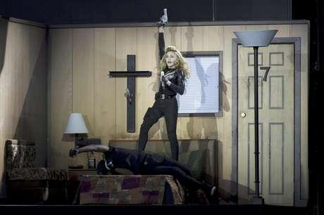 Madonna ofrece un concierto en el Hyde Park de Londres el martes 17 de julio del 2012.