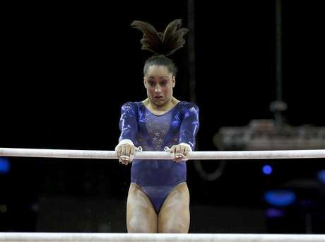 Jordyn Wieber of the U.S. waits after competing in the vault during the women's gymnastics qualification in the North Greenwich Arena during the London 2012 Olympic Games July 29, 2012.