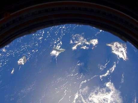 La astronauta norteamericana Suni Williams registró esta imagen de Hawai