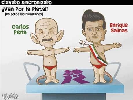 """""""Clavado sincronizado"""", del caricaturista Ubaldo"""