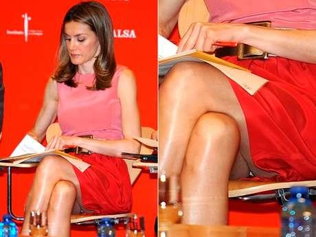 Un paparazzi captó la imagen en la que la princesa Letizia Ortiz muestra su ropa íntima.