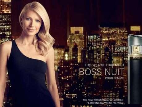 Gwyneth Paltrou usa vestido preto de ombro único em nova campanha