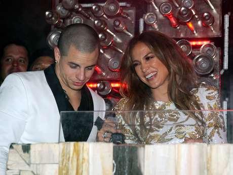 Jennifer Lopez y Casper Smart.