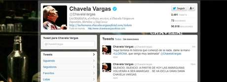 A través de Twitter se ha dado a conocer el fallecimiento de la artista mexicana