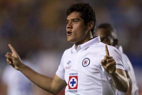 Javier Orozco celebrates after scoring the winning-goal.