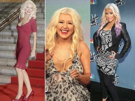 La cantante Christina Aguilera ha pasado por todos los pesos, muy delgada, delgada y con sobrepeso. Su  peso no le interesa mucho, como lo ha afirmado a la prensa, a la que ha dicho que lo importante es que se sienta bien y a gusto  con ella misma y su cuerpo. Ahora luce con menos kilos y se encuentra en un punto intermedio de peso en donde luce muy bonita.