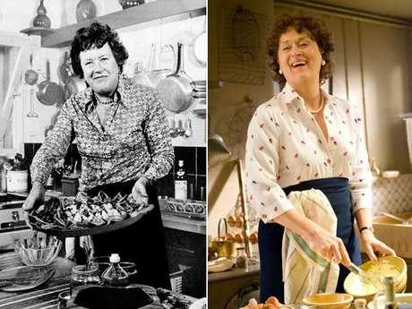 Julia Child teve parte de sua vida contada no filme 'Julie & Julia', no qual Meryl Streep interpreta a chef americana que popularizou a gastronomia francesa na TV