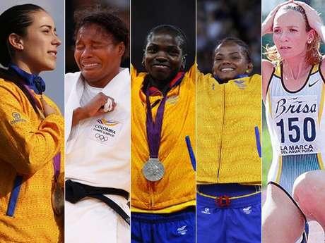 Mariana Pajón, Yuri Alvear, Caterine Ibargüen, Jackeline Rentería y Ximena Restrepo hacen parte de las ocho mujeres colombianas que han conseguido medalla olímpica