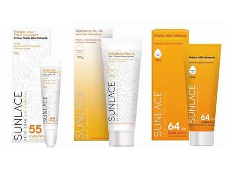 Primer facial, hidratante pós-sol e protetor solar hidratante fazem parte da linha de proteção solar que combate o câncer de pele e o fotoenvelhecimento