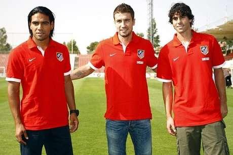 Radamel Falcao Gabi Tiago Atlético de Madrid capitanes