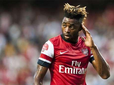 Wesley Song, durante un partido con el Arsenal
