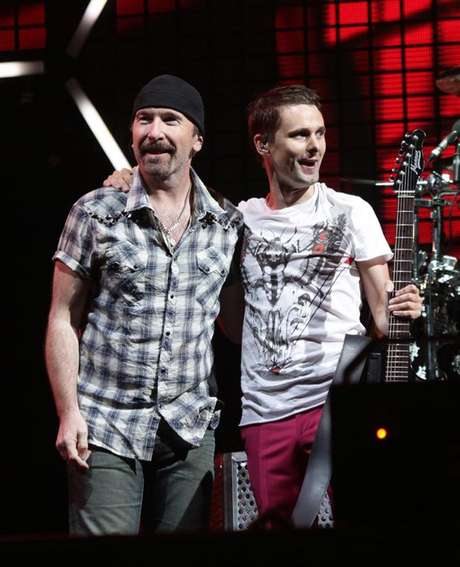 The Edge junto a Matt Bellamy de Muse