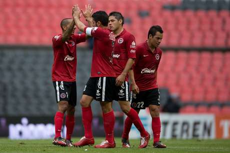 Tijuana celebrates after scoring the first and only goal of the game