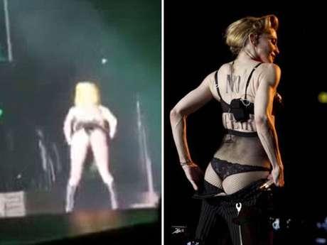 """Lady Gaga copia a Madonna enseñando """"derriere"""" en concierto"""