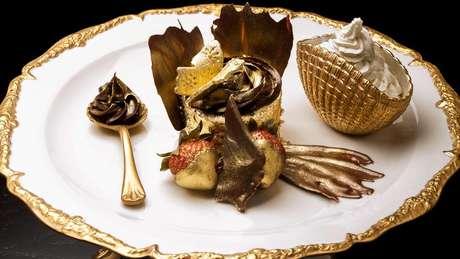 A maioria dos dos pratos mais caros do mundo leva ouro em sua composição