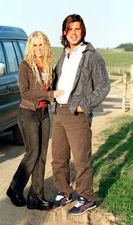 Shakira y Antonio de la Rúa cuando eran novios