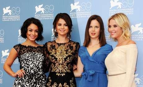 """Selena Gómez junto a las protagonistas de """"Spring Breakers"""","""