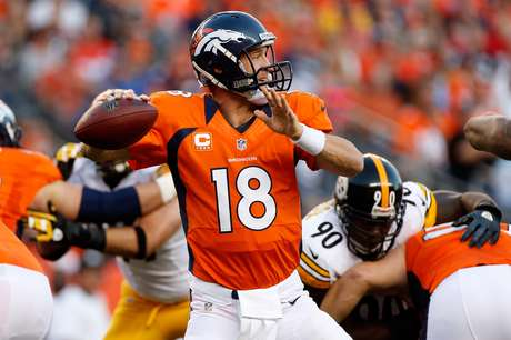 Peyton Manning has not completed a pass of more than twenty yards.