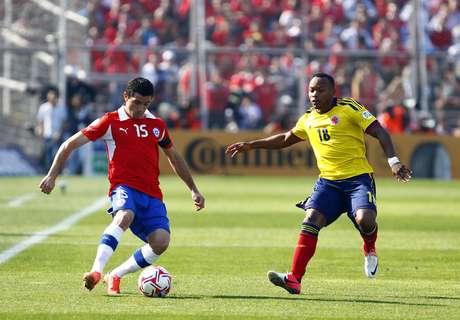 Chile y Colombia se enfrentaron en la octava fecha de la Eliminatoria Sudamericana