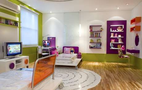 No projeto de Marília de Campos Veiga, basta mudar os acessórios para o quarto infantil se transformar em um moderno cômodo para um adolescente. Informações: (11) 3021-1717
