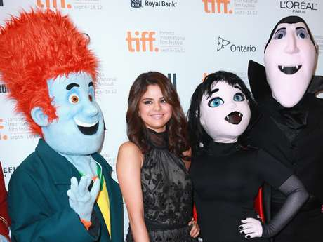 "Selena Gomez looked beautiful and radiant at  the 'Hotel Transylvania' premiere during the 2012 Toronto International Film Festival on September 8, 2012 in Toronto, Canada. The actress/singer shared a tender moment with her ""brother-in-law"" Jaxon Bieber. How sweet!"