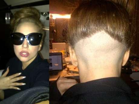 Lady Gaga se rapa la cabeza por un amigo.