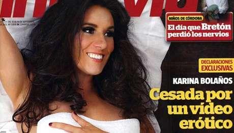 La portada de la revista Interview con Karina Bolaños.